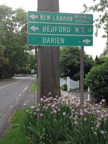 New Canaan Street Sign